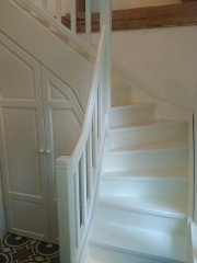Dřevěné schody, schodiště